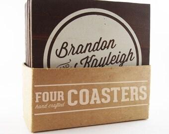 Custom Wedding Coasters - 4 Pack