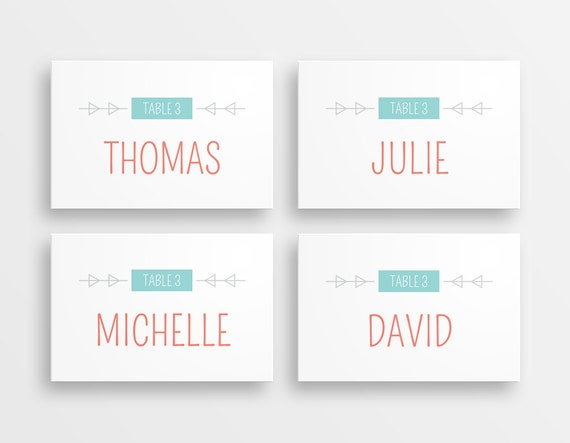 Printable tent cards for weddings rustic handdrawn name for Printable tent card