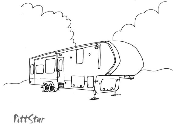 Instant Download 5th Wheel Travel Trailer Printable By