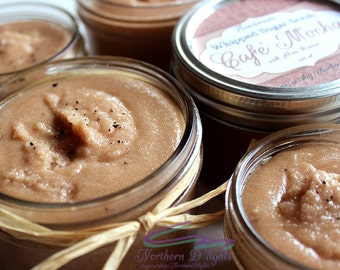Cafe Mocha Scrub, Coffee Sugar Scrub, Whipped Sugar Scrub, Emulsified Scrub, Body Polish, Emulsified Sugar Scrub, Coffee Scrub, Body Scrub