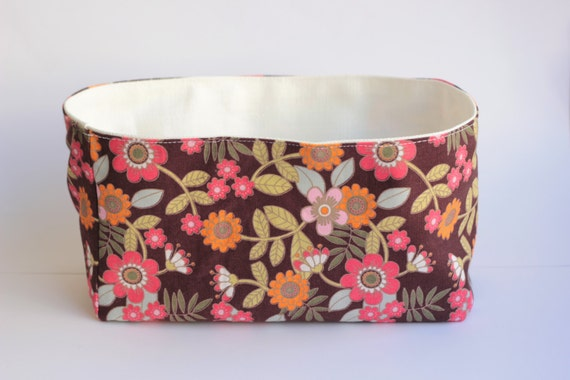 Handmade Cotton Baskets : Handmade basket cotton bin fabric textile