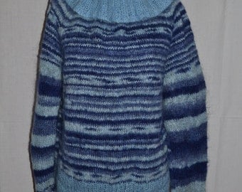 CLEARANCE 50% SALE NEW! Regular price 140USD! Knitted fluffy sweater from Royal mohair with large collar.