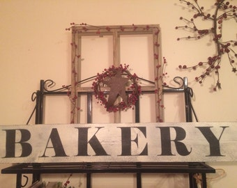 Bakery sign. Bakery decor. Rustic Kitchen signs.  Rustic kitchen decor. Primitive signs. Rustic signs. Distressed signs. Kitchen decor