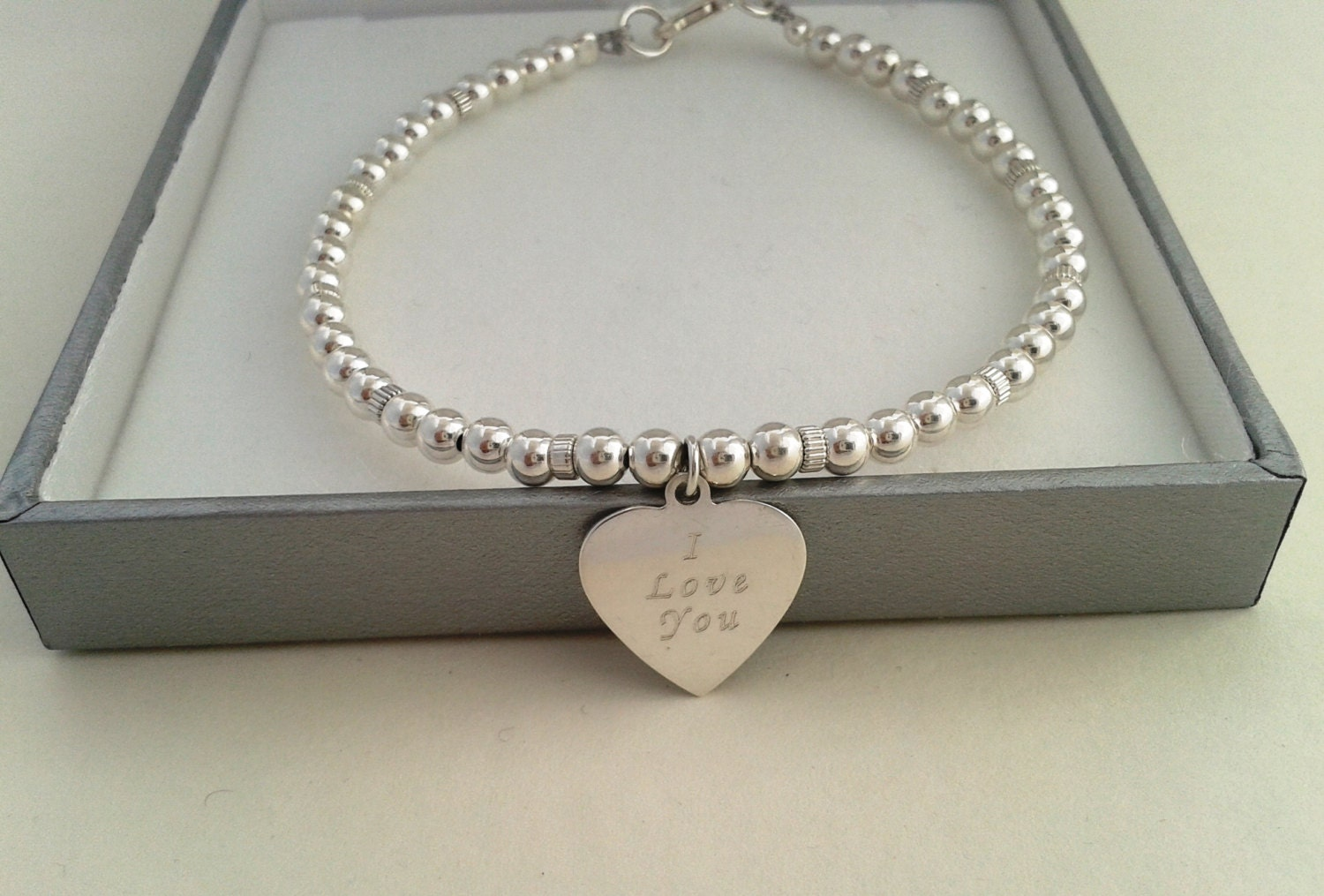 personalized sterling silver bracelet engraved sterling. Black Bedroom Furniture Sets. Home Design Ideas
