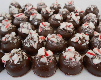 Hiram Walker Peppermint Schnapps Infused Chocolate Drops. Adults Only ! Milk or White Chocolate