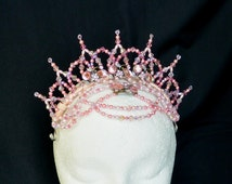Professional Ballet Headpiece. Swarovski crystal & glass bead tiara.