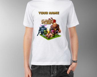 Clash Of Clans Personalised Kids Tee T-Shirt T Shirt