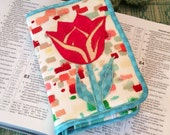 Watercolors NWT Bible Cover with Tulip Appliqué