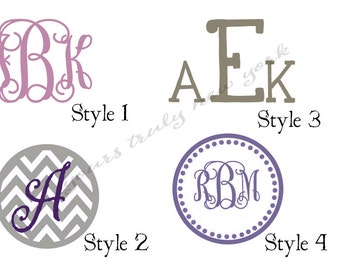 Yeti decal, Monogram decal, car decal, laptop decal, phone decal, tablet decal, Personalized decal, personalized vinyl decal, yeti tumbler