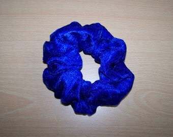 Royal Blue Velvet Hair Scrunchie