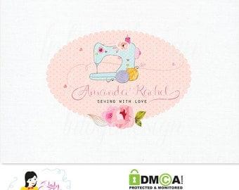 Handrawn Premade Doodle Sewing Business Logo Design – LD034