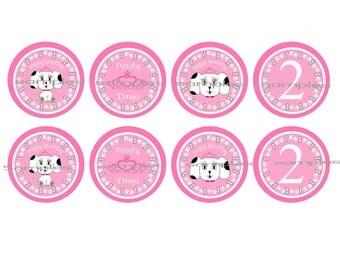 Princess Kiki Girl Puppy Cupcake Toppers