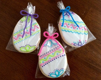 Easter Egg Cookies - perfect party cookies!