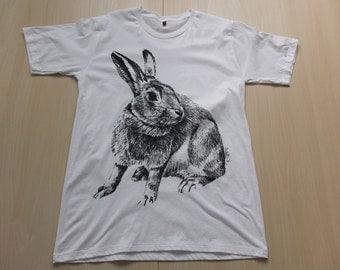 Rabbit Bunny Funny Animal Pop Art Fashion Rock T-Shirt M