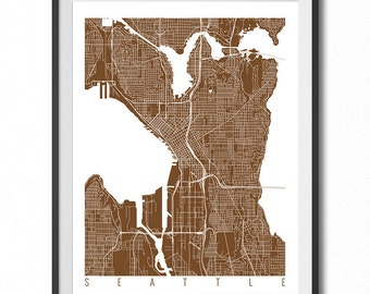 Seattle Wall Art seattle map art print seattle print seattle art print