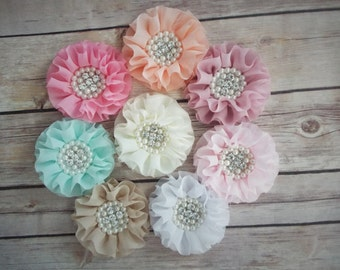 Flower Hair Clip, Girls Hair Clip, Flower Girls,  Hair Accessories,  Rhinestone Hair accessory, Girls, Kids, Toddler Hair Clip, Wedding Hair
