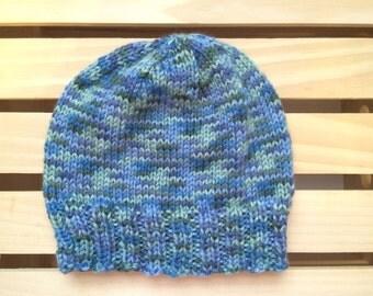 Spring Blue Knit Beanie