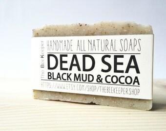 Dead Sea Mud Soap, Dead Sea Soap, Detox Soap, Organic Soap, Cocoa Soap, Clay Soap, Cold Process Soap, Unscented Soap, Vegan Soap
