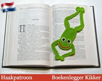 061NLY Boekenlegger Kikker  - Amigurumi Haakpatroon - PDF by Zabelina Etsy