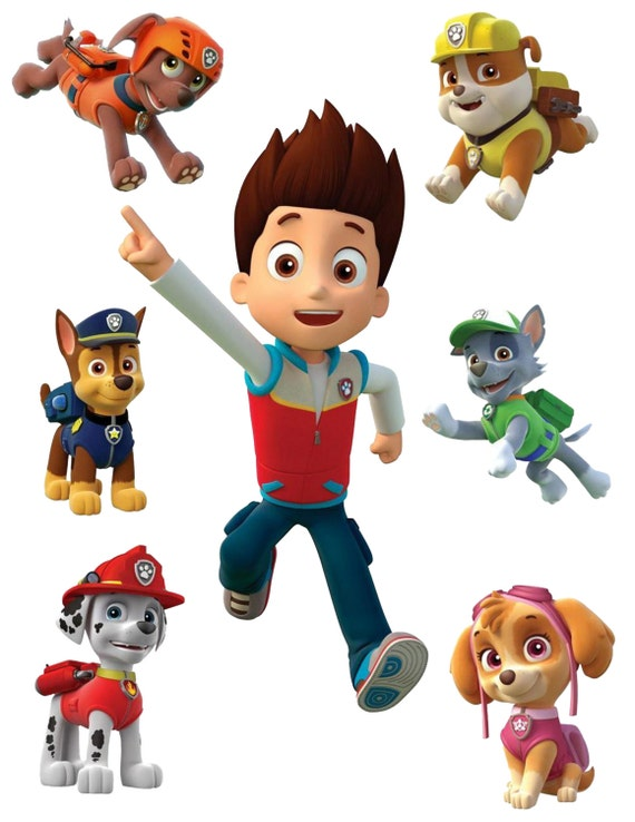 paw patrol removable wall decals. Black Bedroom Furniture Sets. Home Design Ideas