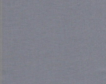 Solid Grey Fabric, Grey Broadcloth, 100 percent  Cotton, by the Yard,  woven cotton, sewing fabric, quilting