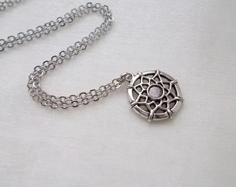 silver dream catcher necklace handmade necklace protection necklace fashion jewellery silver necklace handmade jewellery gift for women