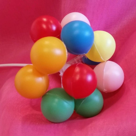 Plastic balloon cluster balloons balloon cake topper for Balloon cluster decoration