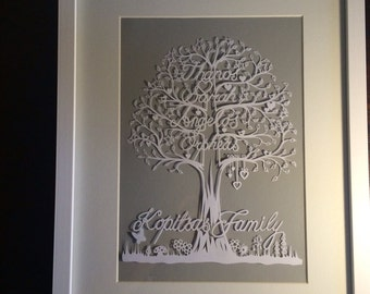 Bespoke handcut Family Tree