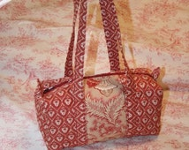 SOLD! Pierre Deux Inspired French Country Duffle Tote Premium European Artisan Crafted Handbag NWT Bag SOLD!