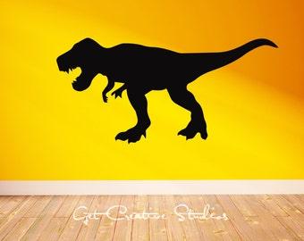 Prehistoric Dinosaur Decal Large TREX Decal Kids Room Decor Playroom Wall Art Jurassic Park Decal Mammorth Pterodactyl Saber Tooth Tiger