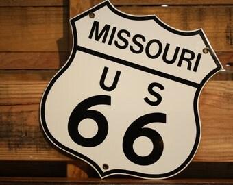 Vintage Missouri Route 66 Sign