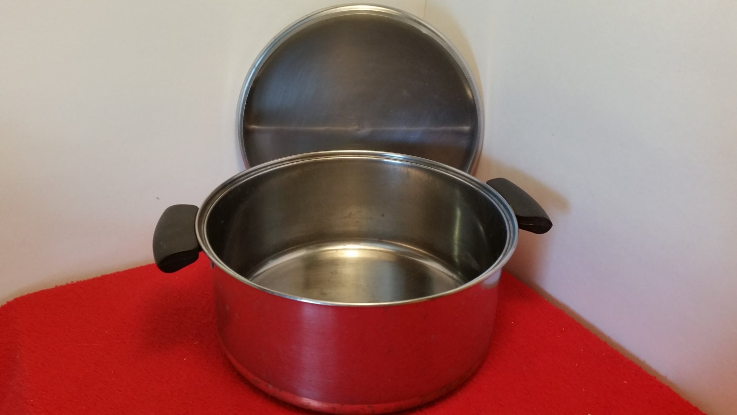 Vintage Revereware Pot Dutch Oven Soup Pot Copper Bottom
