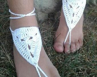 CRochet Barefoot Sandals, Beach Sandals