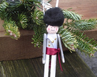 West Point Cadet Wooden Clothpin Doll Set of 5 Ornaments