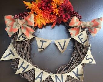Thanksgiving Day Wreath