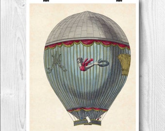 Hot air balloon, Aerostat machine map art, Hot air balloon decoration, globe balloon nursery, fly,decorative arts, educational poster