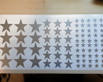 80 Star Decals, Peel and stick, vinyl star stickers