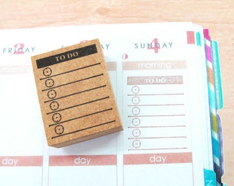 Japanese Rubber Stamp for ErinCondren,PostCard,tiny stamp,planner,Calendar, scheduler diary and for designers,cool japan ,Kanji,todos-07
