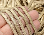 Raw Brass Snake Chains (6mm) - Cable Chain- Foxtail Chains - rbb, THE1-1