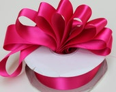 5 yards Fuchsia Double Faced satin Ribbon 1.5 inches - Magenta satin ribbon - fuchsia satin ribbon - wide fuchsia ribbon