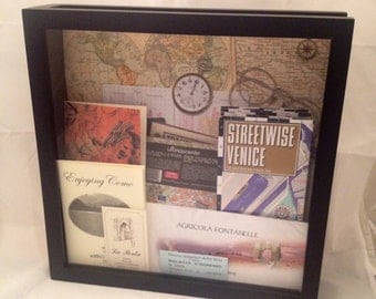 Ticket Shadow Box for Road Trips, Vacations, or Any Adventure!