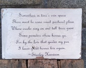 Favorite horse quote sign 'Somewhere in time's own space...' reclaimed wood hand-painted distressed rustic MADE 2 ORDER