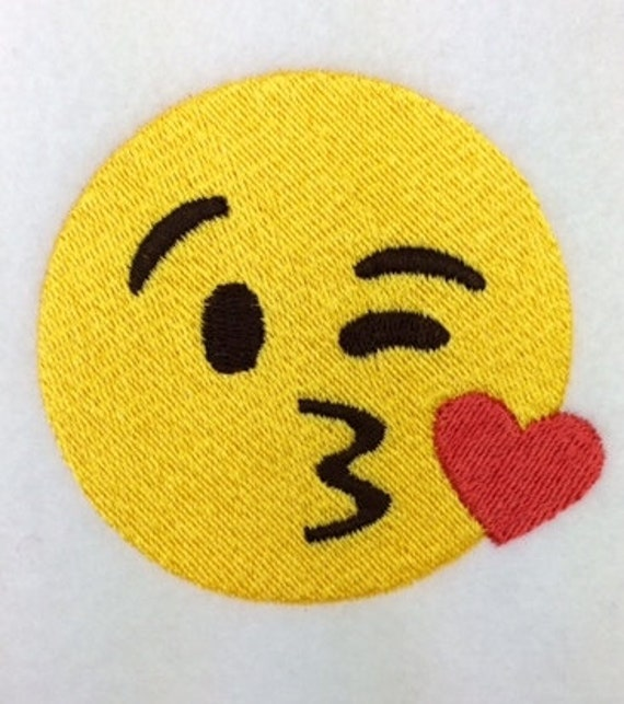Smooch Emoji Machine Embroidery Design Kiss Emoji