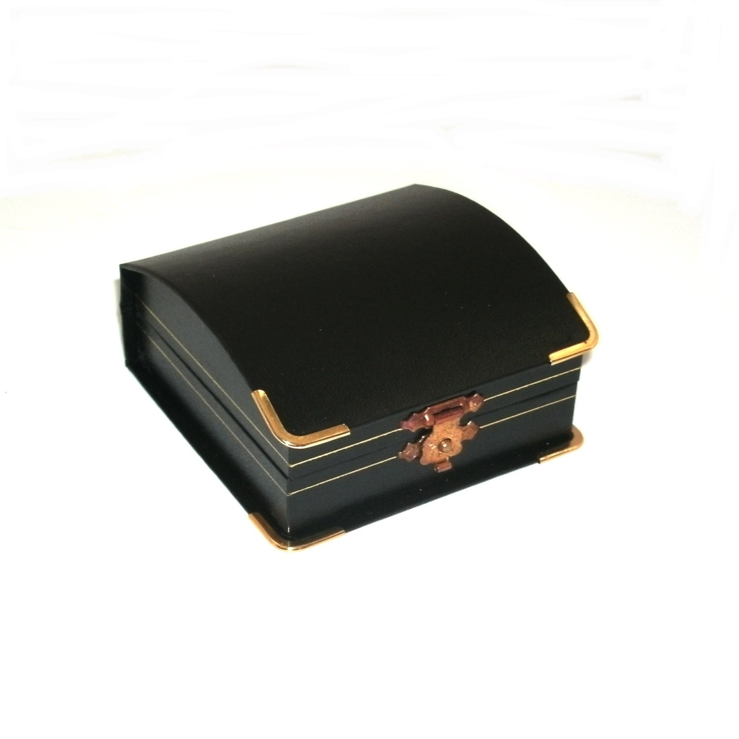 Black domed leatherette with brass accents pendant chain for Black box container studios
