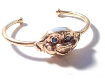 Treasure Troll Cuff with Opal Eyes
