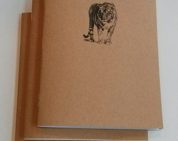 Bengal Tiger Notebook - diary, journal, party favors, multipack, exotic animal, tiger stripe, zoo, regal custom printing included zoo animal