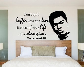 Large Muhammad Ali Boxing Legend Quote Wall Art Decal Mural Sticker Kids Bedroom Lounge Living Room