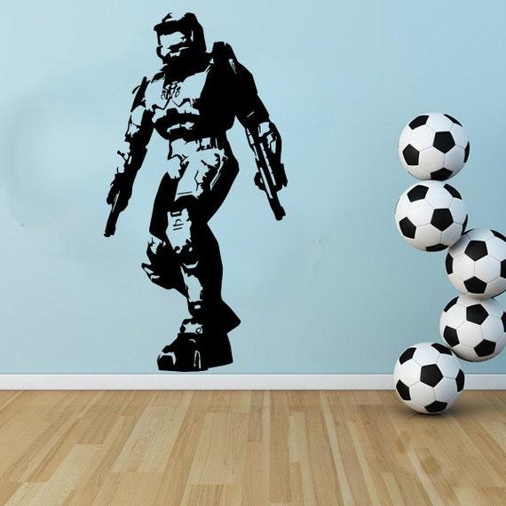 large gaming halo masterchief wall art decal mural sticker master chief halo 4 wall decal sticker wall decal at