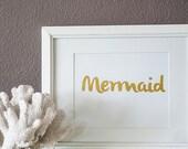 GOLD Mermaid Art Print