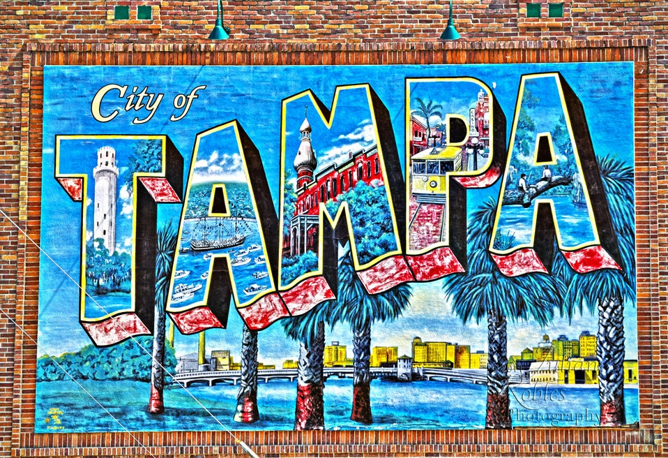 City of tampa mural gallery wrap by transcendentexplorer for City of tampa mural
